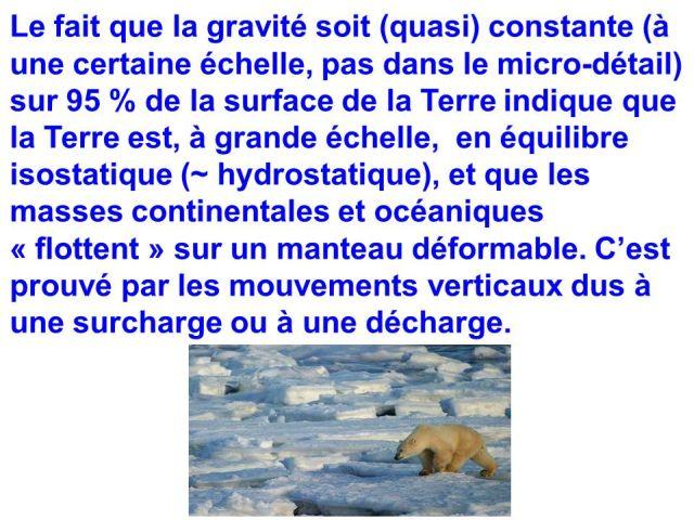 gravité a la surface de la terre